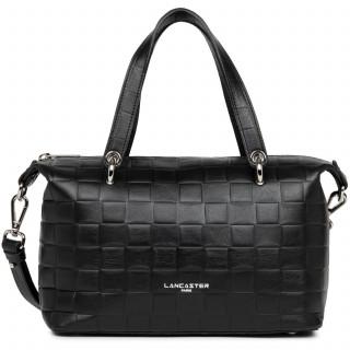 Lancaster Waffle Handbag Cabas 421-24 Black