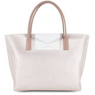 Lancaster Maya Bag Cabas 517-18 White Mother-White and Nude