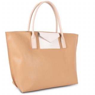Lancaster Maya Bag Cabas 517-18 Nature-Ecru and Nude Clair