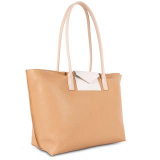Lancaster Maya Grand Bag Cabas 517-20 Nature-Ecru and Nude Clair