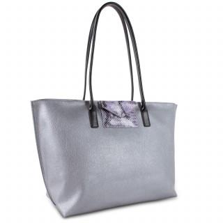 Lancaster Maya Grand Bag Cabas 517-20 Silver Python