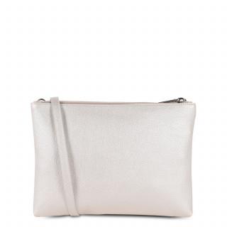 Lancaster Maya Bag Pocket 517-27 Nacre-White and Nude