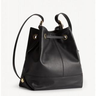 Gérard Darel Mini So Bucket Bag Black Crossed