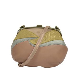 Mila Louise Poe Reb Nude Shoulder Bag
