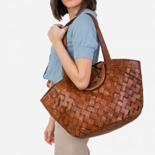 Biba Lewisburg Bag Cabas Braided Cuero