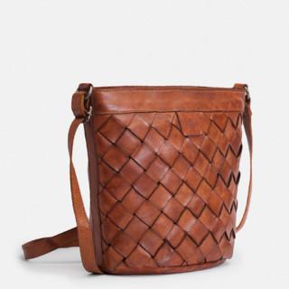 Biba Lewisburg Bucket Bag Tressé Cuero