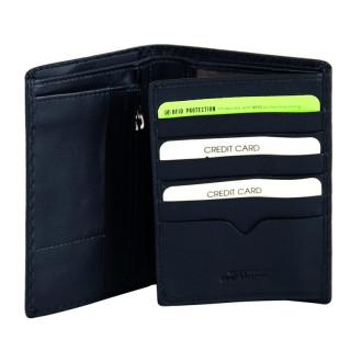 Gianni Conti Nero Leather Grand Wallet