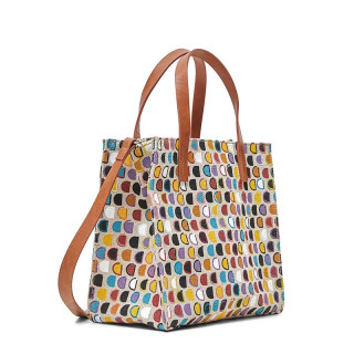 Desigual Dynamic Mini Sac Shopper Logo Blanco Lino