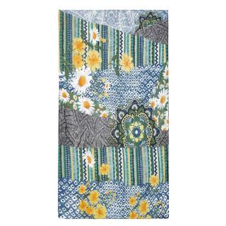 Desigual Freyja Foulard Rectangulaire Fleurs Nature vert