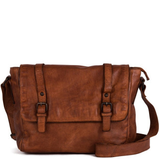 Gianni Conti Bag Reporter Leather Cognac