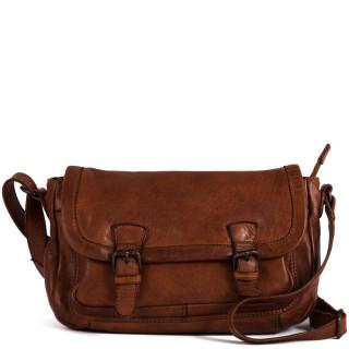 Gianni Conti Messenger Bag Leather Nero