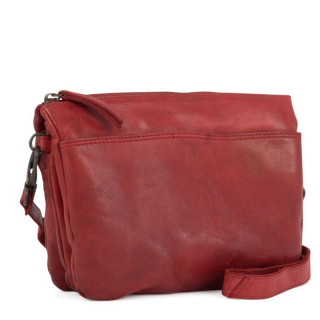 Gianni Conti Messenger Bag Leather Rosso