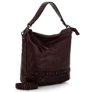 Gianni Conti Bordeaux Leather Shoulder Bag