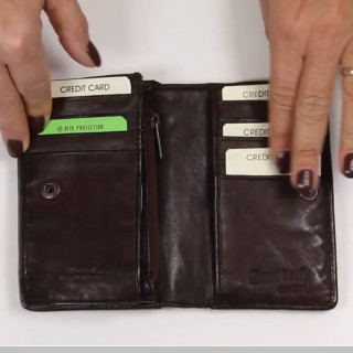 Gianni Conti Wallet Leather Nero