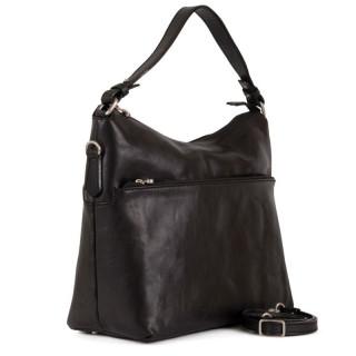 Gianni Conti Nero Leather Shoulder Bag