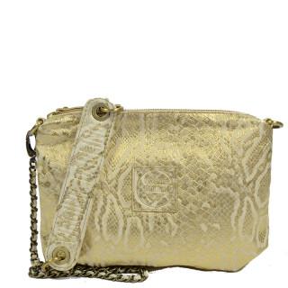 Virginie Darling Chacha Bubble Python Gold Pocket