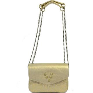 Virginie Darling Mini Bag Chacha Bubble Python Gold