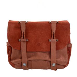 Mila Louise Oless Glitter Crossbody Bag Rust