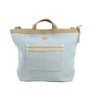 Mila Louise Romane Canotier sac cabas Bleu