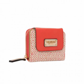 Lollipops H-Giulia Wallet Mint In Golden Coral Fabric