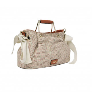 Lollipops H-Giulia Hand Cabas Bag In Golden Coral Fabric