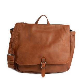 "Paul Marius LePostier M Satchel Bag for pc 13"" Natural"